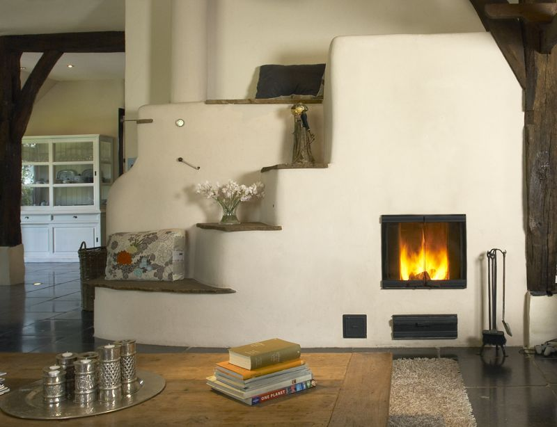 Leemkachels van vuurmeesters for Building an indoor fireplace
